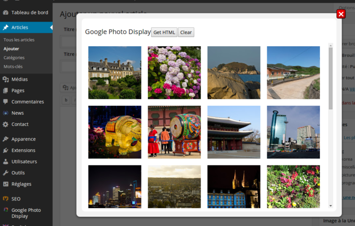 Google Photo Display Plugin
