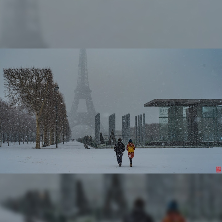 France-Paris-UnderSnow